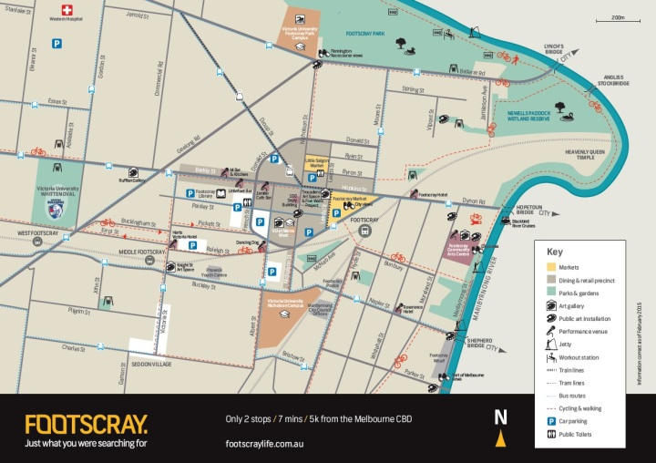 Guide to Footscray map